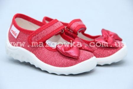 Тапочки Waldi 042 для девочки красные (A)
