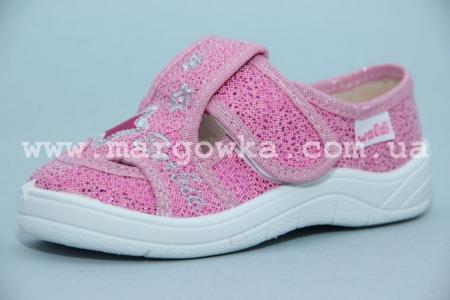 Тапочки Waldi 277-102 для девочки розовые (G)
