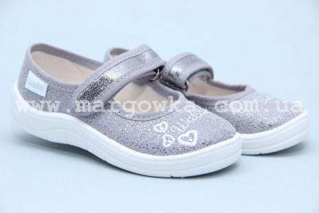 Тапочки Waldi 0058 для девочки серебристые (A)