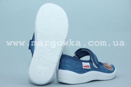 Тапочки Waldi 60-676 для девочки синие (G)