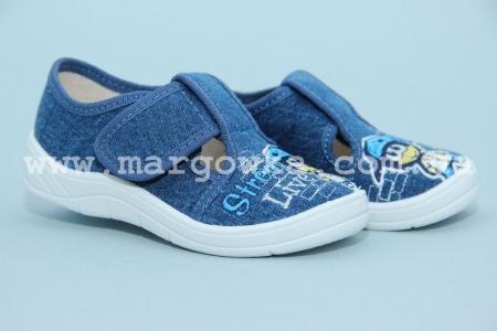 Тапочки Waldi 60-686 для мальчика синие (A)