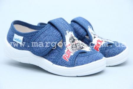 Тапочки Waldi 0062 для мальчика синие (A)