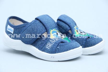 Тапочки Waldi 0064 для мальчика синие (A)