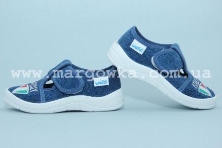 Тапочки Waldi 60-674-1 для мальчика синие (G)