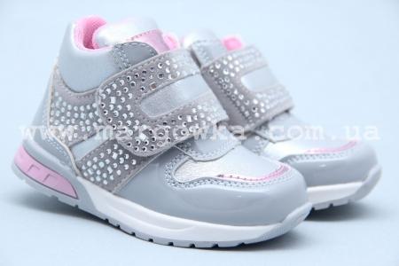 Ботинки Clibee P-262-1 для девочки серебристые