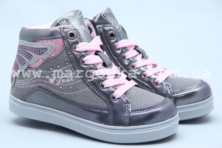 Ботинки BIKI 5015A для девочки серые