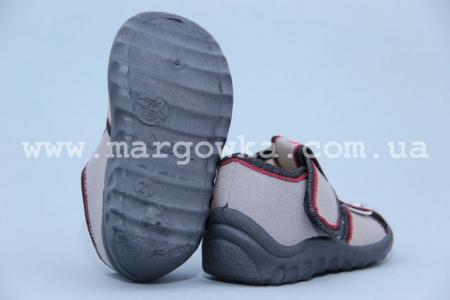 Тапочки Waldi 240-648-2 для мальчика серые (A)