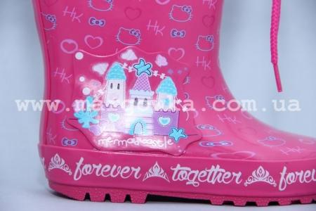 Резиновые сапоги Солнце B22 для девочки розовые (A)