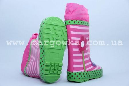 Резиновые сапоги Солнце B32 для девочки розовые (A)