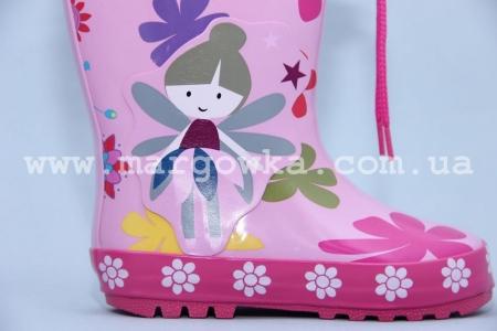 Резиновые сапоги Солнце B13 для девочки розовые (G)