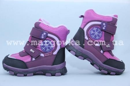 Ботинки Tom.M 1600A для девочки фиолетовые (G)