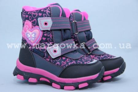 Ботинки Tom.M 1596B для девочки фиолетовые (G)