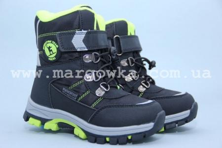 Ботинки Tom.M 1614A для мальчика чёрные (G)
