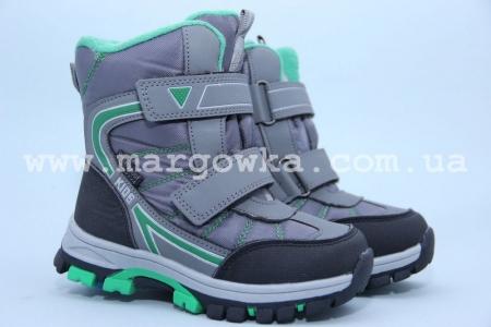 Ботинки Tom.M 1619C для мальчика серые (G)