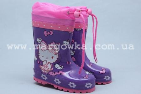 Резиновые сапоги Солнце A25-1 для девочки фиолетовые
