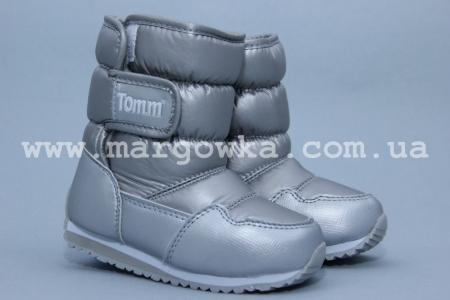 Дутики Tom.M 0693A для девочки серебристые (A)