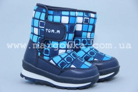 Дутики Tom.M 1529B для мальчика синие (A)