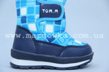 Дутики Tom.M 1529G голубые (A)