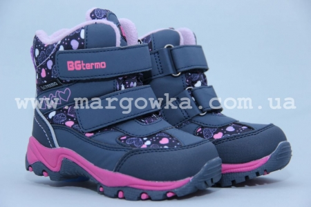 Термо-ботинки B&G TERMO R181-618 для девочки синие (A)