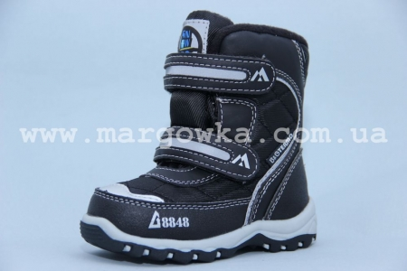 Термо-ботинки B&G TERMO BG187-53 для мальчика чёрные (A)