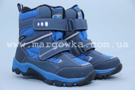 Термо-ботинки B&G TERMO R181-6021 для мальчика серые (A)