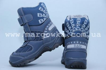 Термо-ботинки B&G TERMO R181-40N для мальчика синие (A)