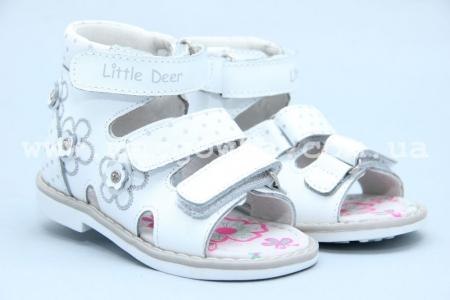 Босоножки Little Deer LD190-814 для девочки белые