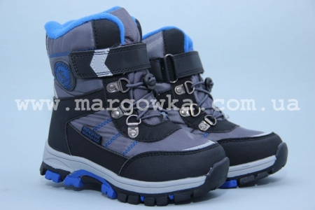 Ботинки Tom.M 1614C для мальчика серые (G)