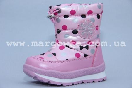 Дутики Tom.M 0816C для девочки розовые (A)
