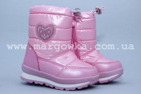Дутики Tom.M 1675E для девочки розовые (A)