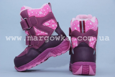 Термо-ботинки B&G TERMO RAY185-47 для девочки сливовые (A)