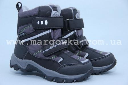 Термо-ботинки B&G TERMO R181-6022 для мальчика чёрные (A)