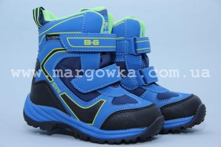 Термо-ботинки B&G TERMO R181-602N для мальчика синие (A)
