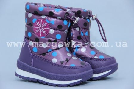 Дутики Tom.M 0816F для девочки фиолетовые (G)