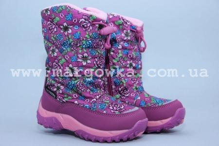 Термо-ботинки B&G TERMO R181-603F для девочки фиолетовые (G)