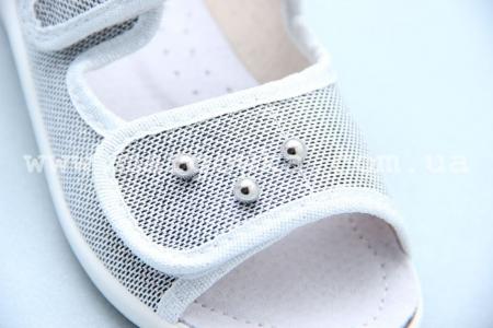 Тапочки Waldi 0068 для девочки серебристые