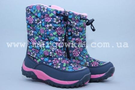 Термо-ботинки B&G TERMO R181-603N для девочки синие (G)