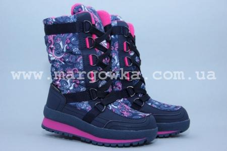 Термо-ботинки B&G TERMO R181-610 для девочки синие (A)