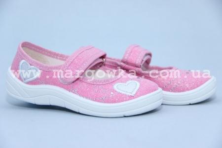 Тапочки Waldi 0001 для девочки розовые (A)