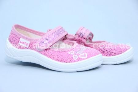 Тапочки Waldi 0002 для девочки розовые (A)