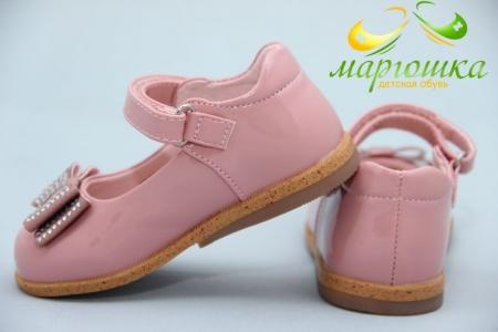 Туфли Сказка S021-1 для девочки розовые