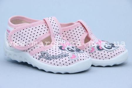 Тапочки Waldi 003 для девочки розовые (A)