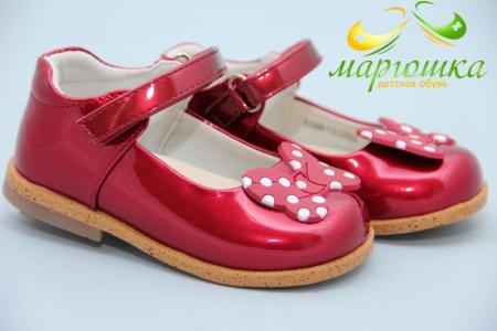 Туфли Сказка S022 для девочки красные