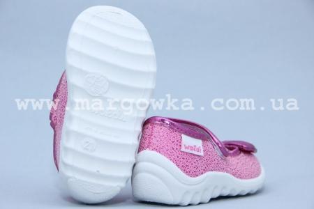 Тапочки Waldi 006 для девочки розовые (A)
