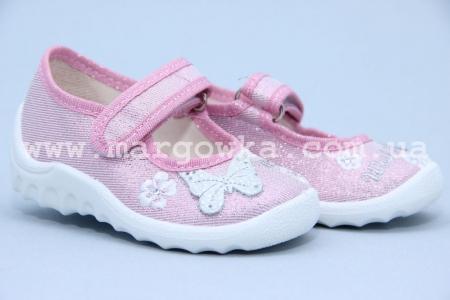 Тапочки Waldi 002 для девочки розовые (A)