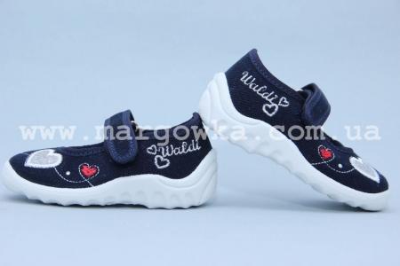Тапочки Waldi 001 для девочки синие (A)