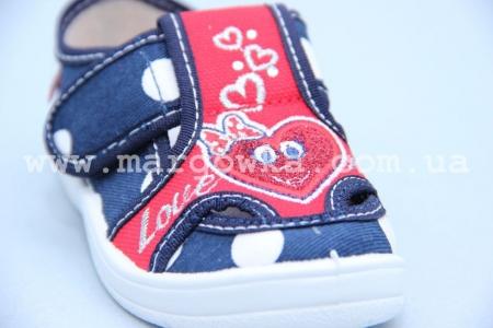 Тапочки Waldi 0010 для девочки синие (A)