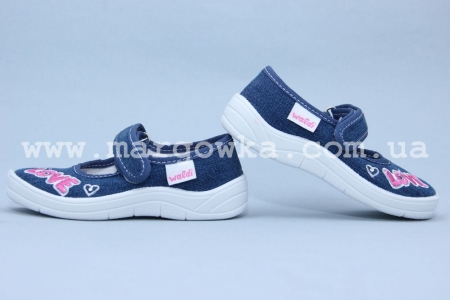 Тапочки Waldi 0023 для девочки синие (A)