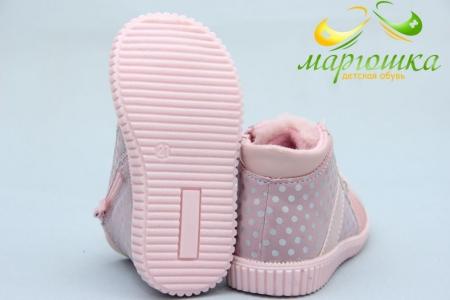 Ботинки С.Луч Y354-4 для девочки розовые
