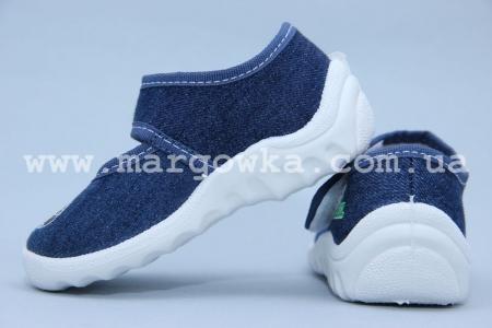 Тапочки Waldi 009 для мальчика синие (A)